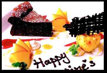 バレンタイン限定ドルチェ「リッチショコラ」、チョコたっぷりのガトーショコラとプラリネのセミフレッドの盛り合わせプレート